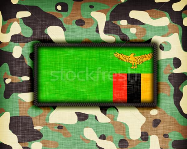 álca egyenruha Zambia zászló textúra absztrakt Stock fotó © michaklootwijk