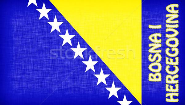 Bandera Bosnia Herzegovina cartas aislado textura viaje Foto stock © michaklootwijk
