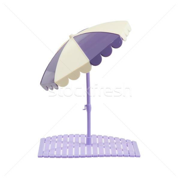 Piccolo ombrellone isolato bianco sfondo giocattolo Foto d'archivio © michaklootwijk