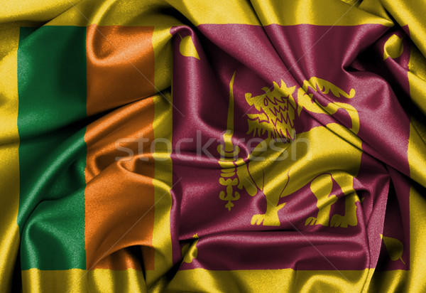 Stock photo: Satin flag, three dimensional render