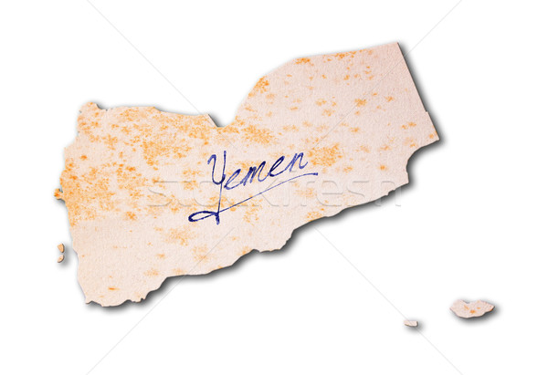 Papel velho letra Iémen azul nosso papel Foto stock © michaklootwijk