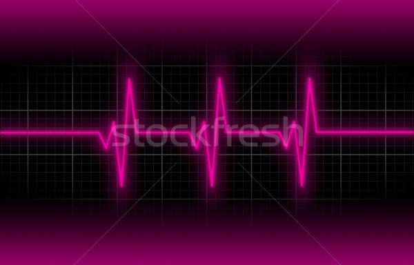 Electrocardiogram - Concept of healthcare Stock photo © michaklootwijk
