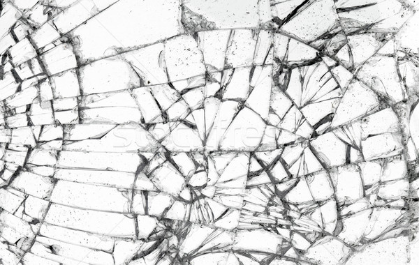 Full screen broken glass, white background  Stock photo © michaklootwijk