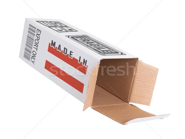 Exportar producto Austria papel cuadro Foto stock © michaklootwijk
