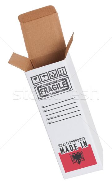 Exportar producto Albania papel cuadro Foto stock © michaklootwijk