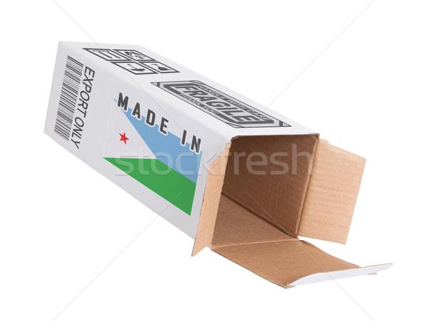 Exportar producto Djibouti papel cuadro Foto stock © michaklootwijk