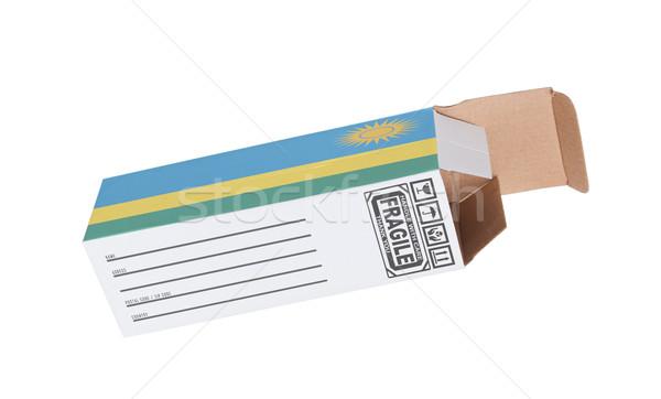 Exporter produit Rwanda papier boîte Photo stock © michaklootwijk