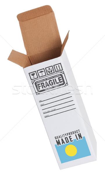 エクスポート 製品 パラオ 紙 ボックス ストックフォト © michaklootwijk