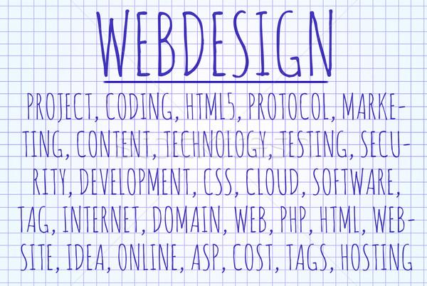 Webdesign word cloud Stock photo © michaklootwijk
