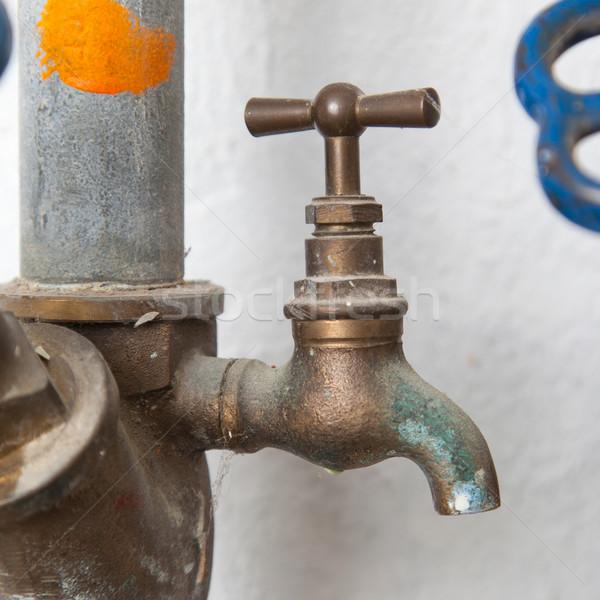 Alten tippen Sanitär 80er Jahre Öl industriellen Stock foto © michaklootwijk