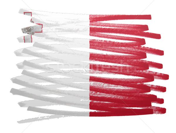 Vlag illustratie Malta pen business verf Stockfoto © michaklootwijk