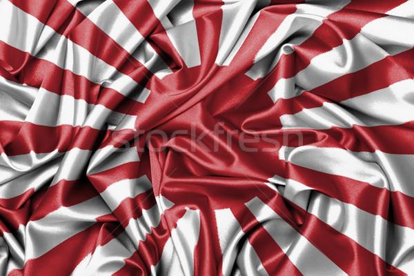 Satin flag - flag of Japan Stock photo © michaklootwijk