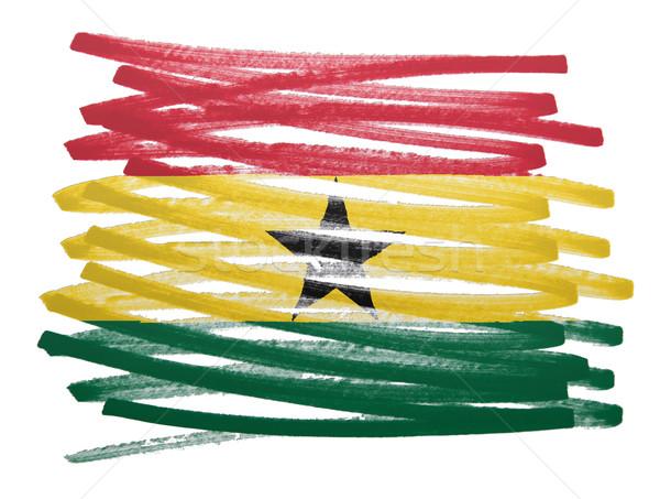 флаг иллюстрация Гана пер бизнеса краской Сток-фото © michaklootwijk