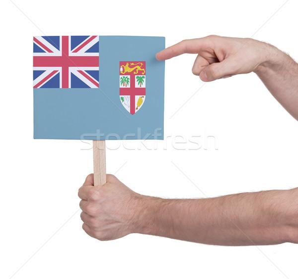 Hand klein kaart vlag Fiji Stockfoto © michaklootwijk