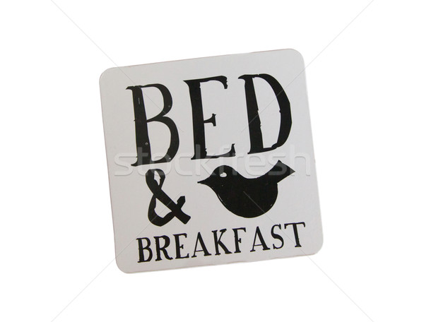 Poháralátét ágy reggeli izolált biztonság űr Stock fotó © michaklootwijk
