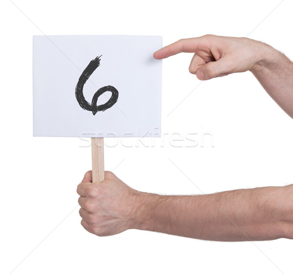 Sign with a number, 6 Stock photo © michaklootwijk