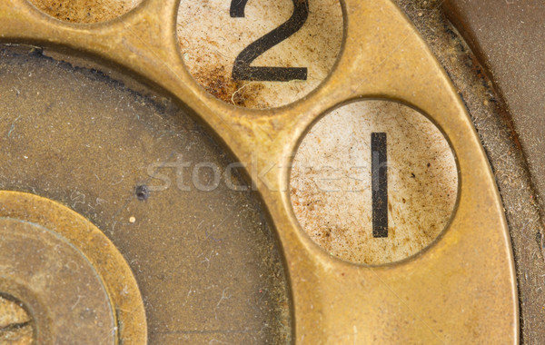 Close up of Vintage phone dial - 1 Stock photo © michaklootwijk