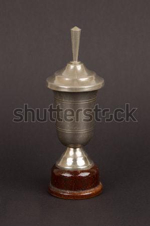 öreg trófea csésze izolált fekete siker Stock fotó © michaklootwijk