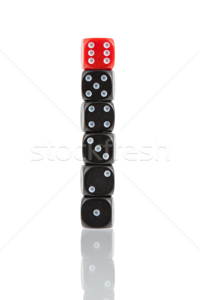 Row of dice Stock photo © michaklootwijk