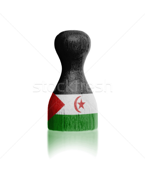 Legno pedone bandiera pittura occidentale sahara Foto d'archivio © michaklootwijk