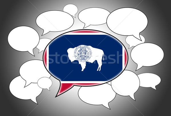 Communication concept - Speech cloud Stock photo © michaklootwijk