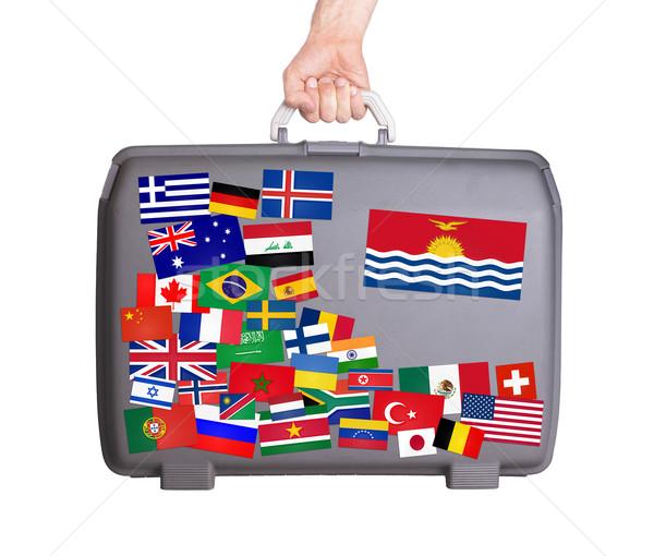中古 プラスチック スーツケース ステッカー 小 ストックフォト © michaklootwijk