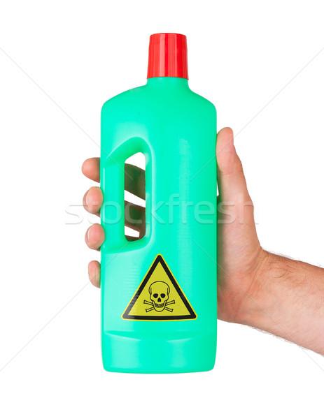 Plastic fles giftig geïsoleerd witte groep Stockfoto © michaklootwijk