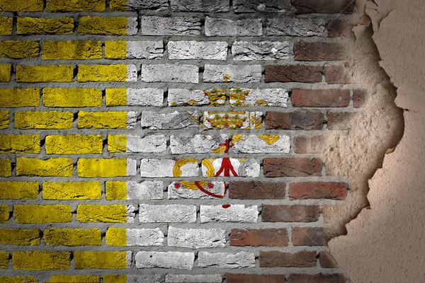 Buio muro di mattoni intonaco vaticano texture bandiera Foto d'archivio © michaklootwijk