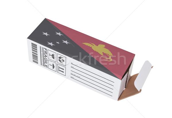 Exporteren product Papoea-Nieuw-Guinea papier vak Stockfoto © michaklootwijk