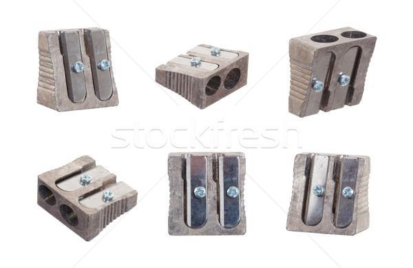Series of six sharpeners on white background Stock photo © michaklootwijk