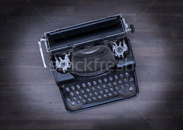 Top view of an old typewriter Stock photo © michaklootwijk