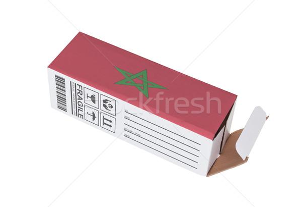 Exporter produit Maroc papier boîte Photo stock © michaklootwijk