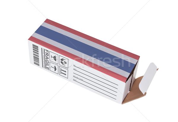 Exportar produto Tailândia papel caixa Foto stock © michaklootwijk