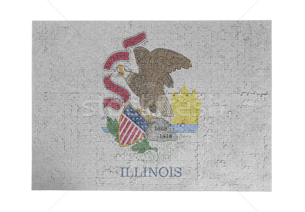 Large jigsaw puzzle of 1000 pieces - Illinois Stock photo © michaklootwijk