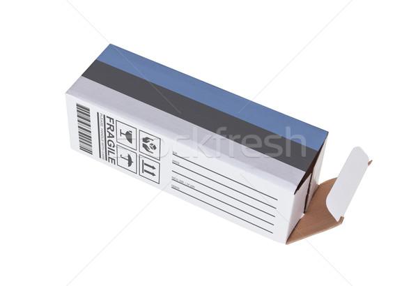 エクスポート 製品 エストニア 紙 ボックス ストックフォト © michaklootwijk