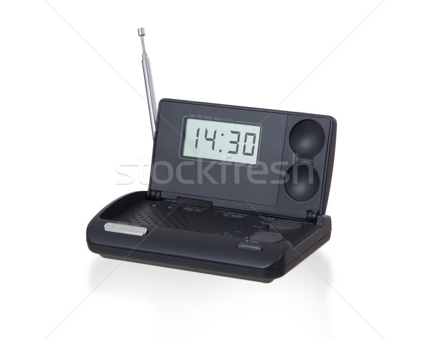 Old digital radio alarm clock isolated on white Stock photo © michaklootwijk