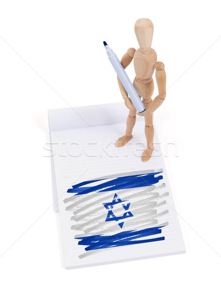манекен рисунок Израиль флаг бумаги Сток-фото © michaklootwijk