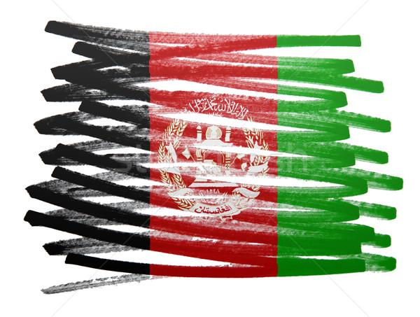 Bandeira ilustração Afeganistão caneta negócio pintar Foto stock © michaklootwijk
