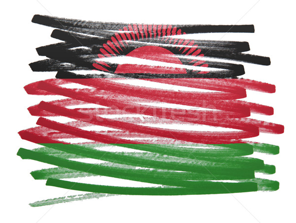 Flag illustration - Malawi Stock photo © michaklootwijk
