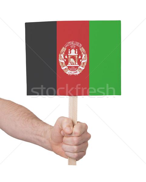 стороны небольшой карт флаг Афганистан Сток-фото © michaklootwijk