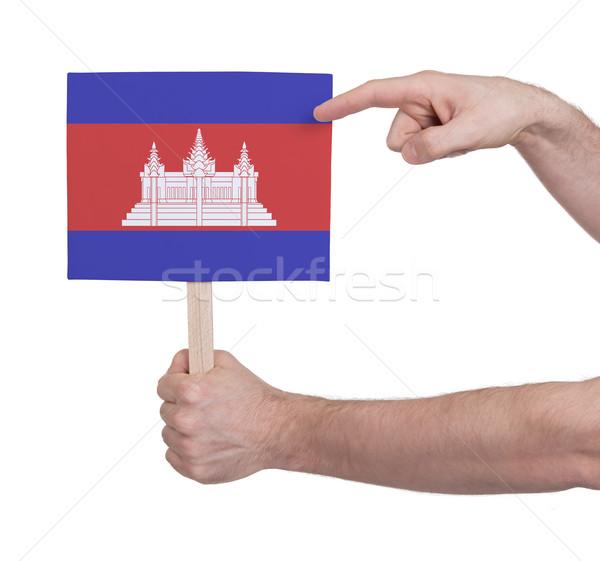 Hand klein kaart vlag Cambodja Stockfoto © michaklootwijk