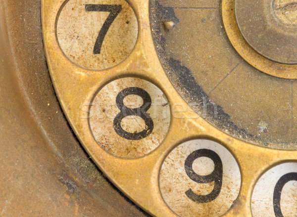 Close up of Vintage phone dial - 8 Stock photo © michaklootwijk
