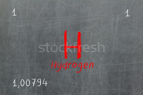 孤立した 黒板 周期表 水素 化学 学校 ストックフォト © michaklootwijk