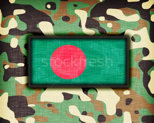 Kamuflaż uniform Bangladesz banderą tekstury streszczenie Zdjęcia stock © michaklootwijk