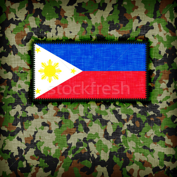 Amy camouflage uniform, phillipines Stock photo © michaklootwijk