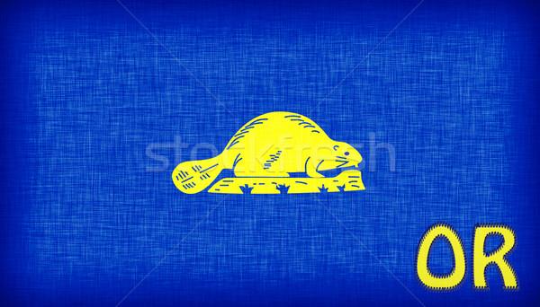 Bayrak Oregon kısaltma kumaş ülke Stok fotoğraf © michaklootwijk