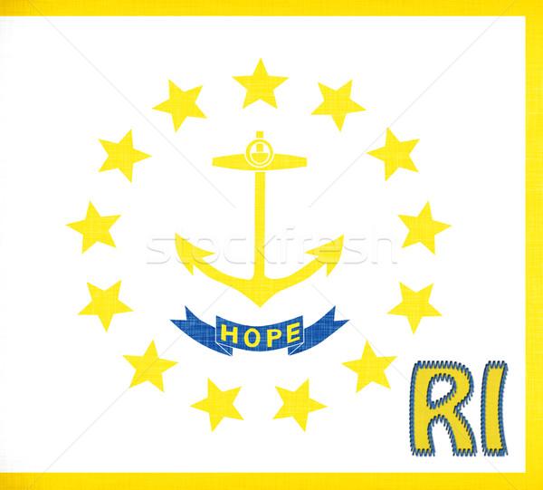 Bayrak Rhode Island kısaltma star kumaş Stok fotoğraf © michaklootwijk