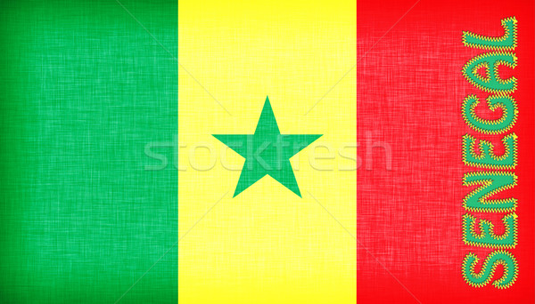 Flag of Senegal stitched with letters Stock photo © michaklootwijk