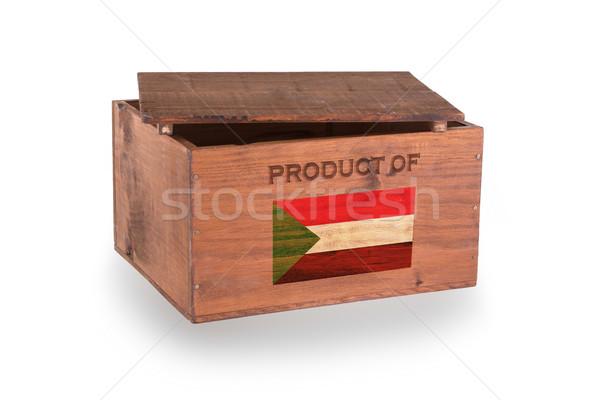 Stock fotó: Fából · készült · láda · izolált · fehér · termék · Szudán