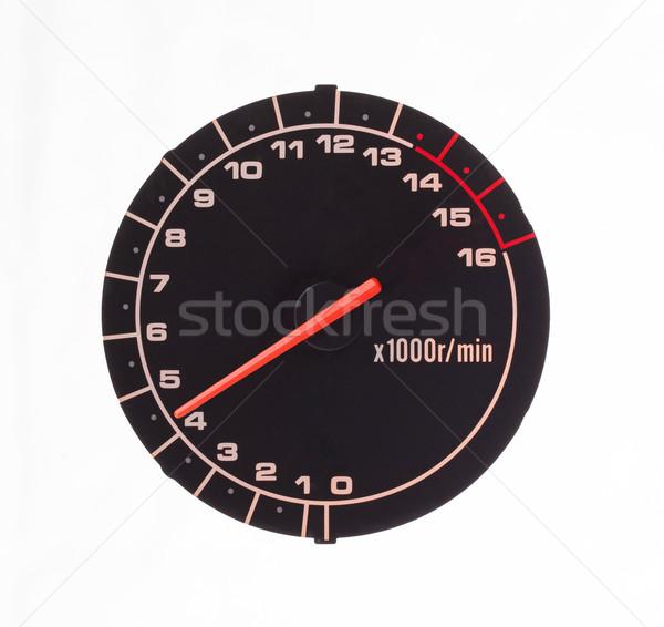 Isolated motor tachometer Stock photo © michaklootwijk